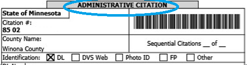 Administrative Citation Example